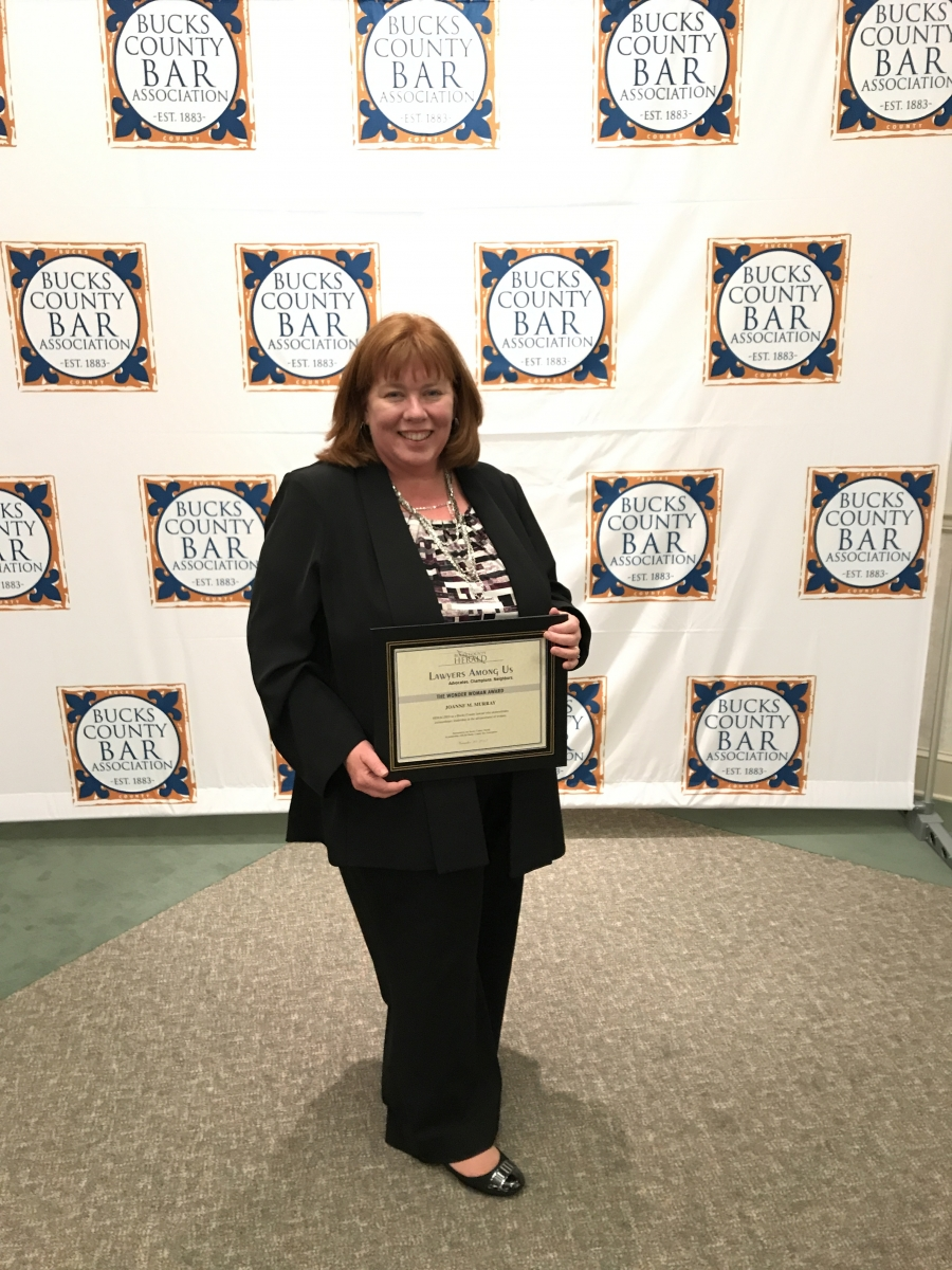 "Joanne Murray Receives ""Wonder Woman"" Award from Bucks County Herald and Bucks County Bar Association"