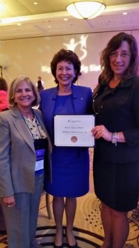 Sue Maslow Accepts Quality Agency Award on Behalf of Big Brothers Big Sisters of Bucks County